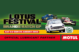 MOTUL partners Lotus Festival 2013 in Lotus-Cortina's 50th anniversary year